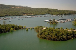 Water level in the Bidwell Marina at Lake Oroville on July 20, 2011